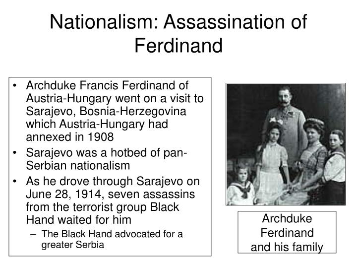Nationalism: Assassination of Ferdinand