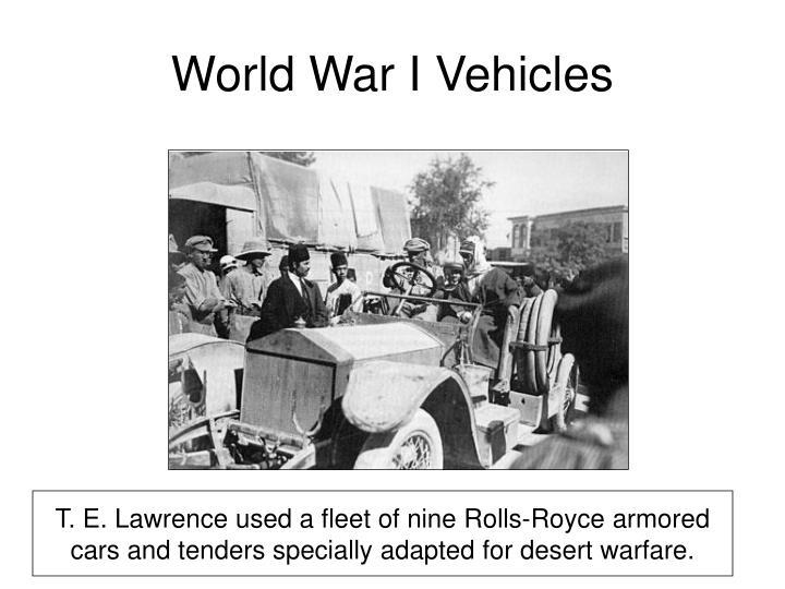 World War I Vehicles