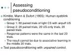 assessing pseudoconditioning