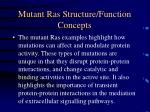 mutant ras structure function concepts