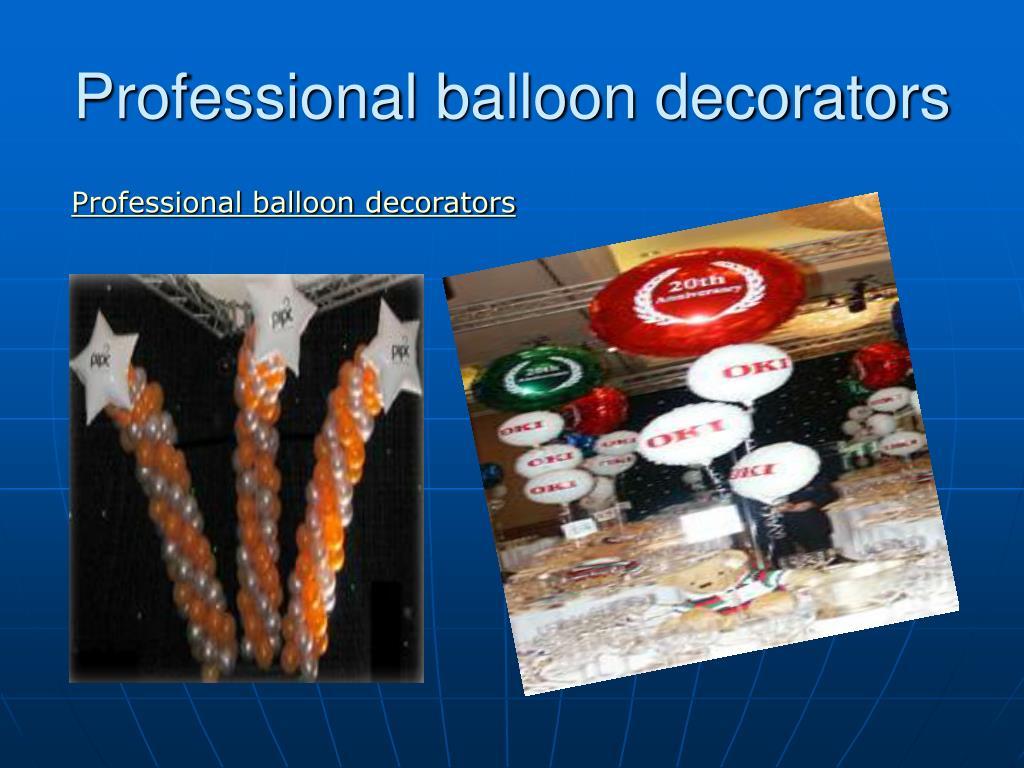 professional balloon decorators l.