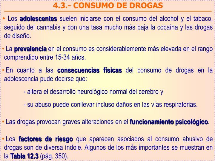 4.3.- CONSUMO DE DROGAS