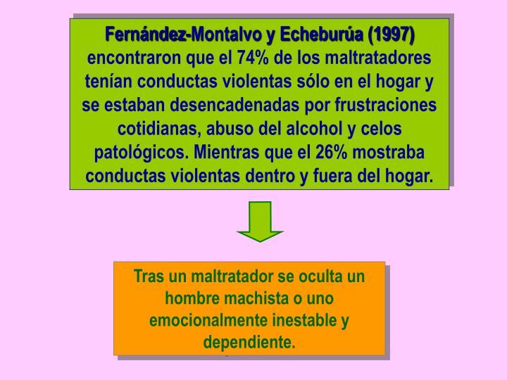 Fernández-Montalvo y Echeburúa (1997)