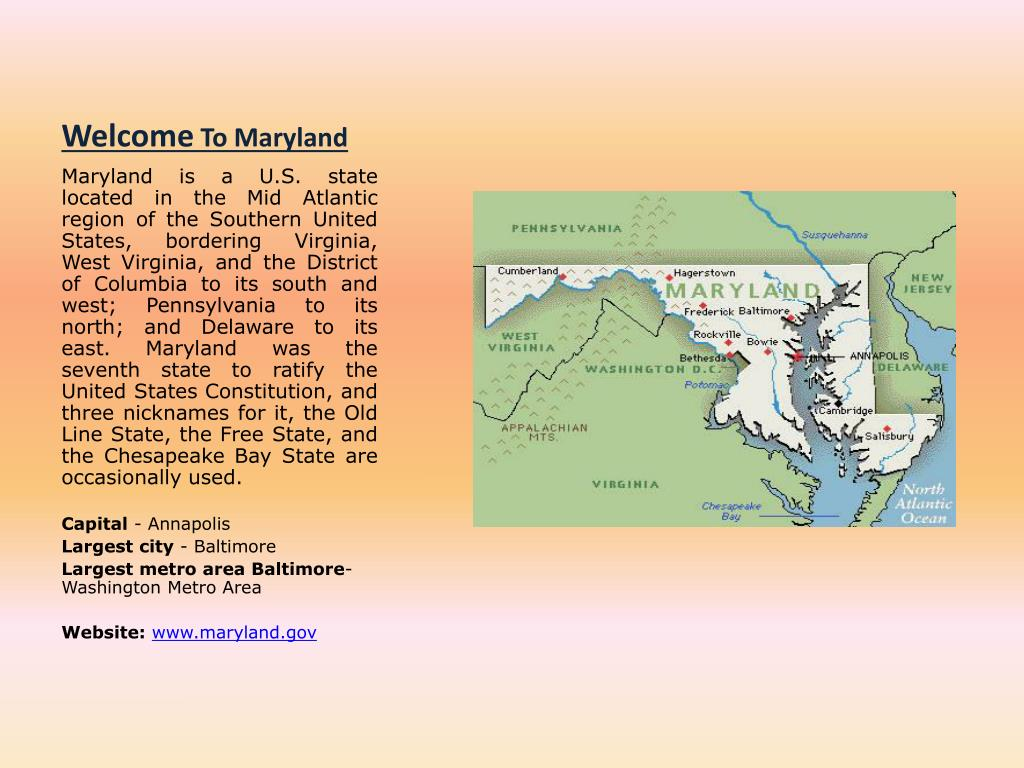 welcome to maryland l.
