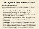 top 3 types of auto insurance frauds