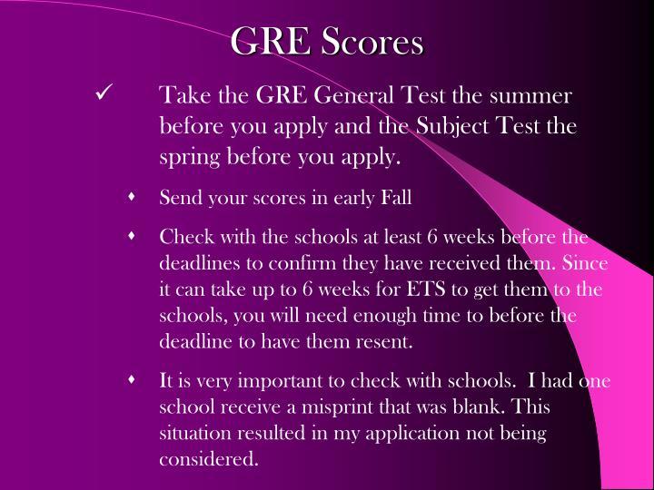 GRE Scores