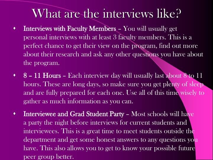 Interviews with Faculty Members