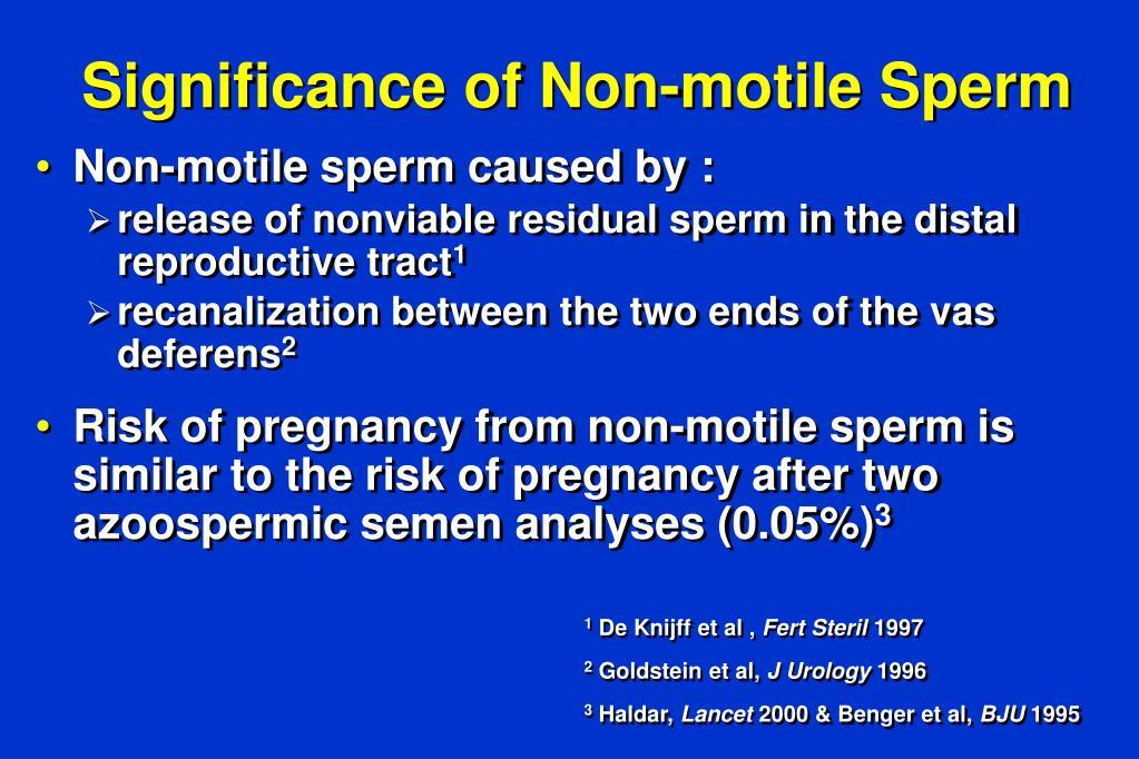motility Sperm count non motile