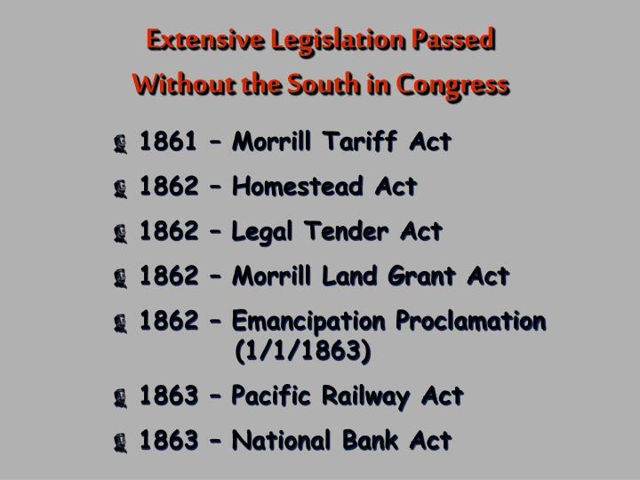 Extensive Legislation Passed
