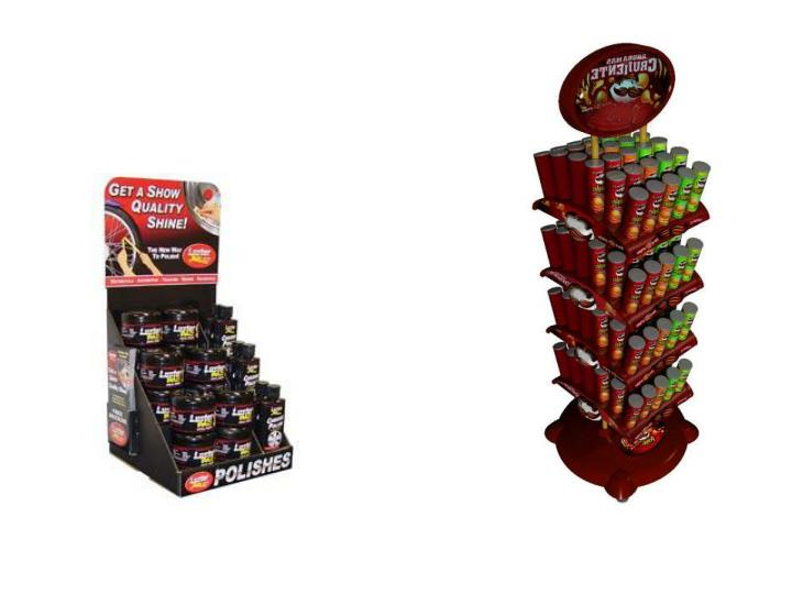 A custom point of purchase display increases sales
