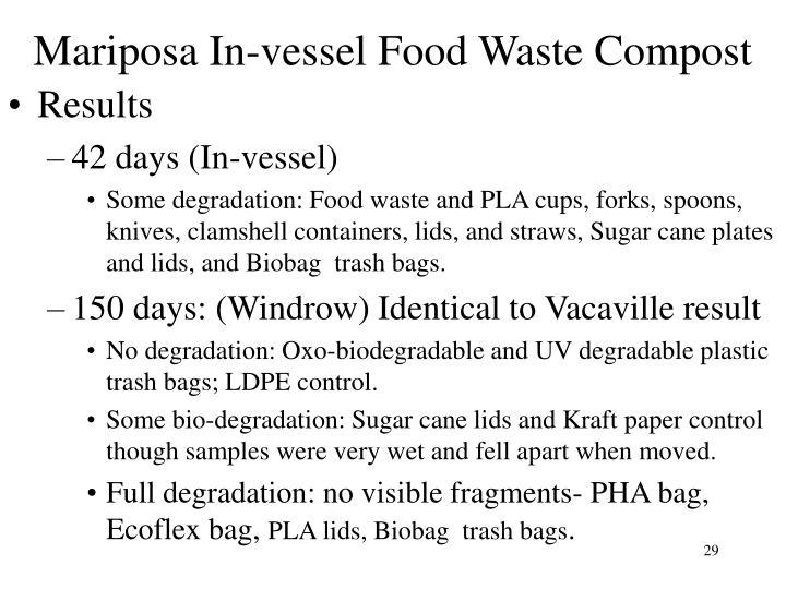 Mariposa In-vessel Food Waste Compost