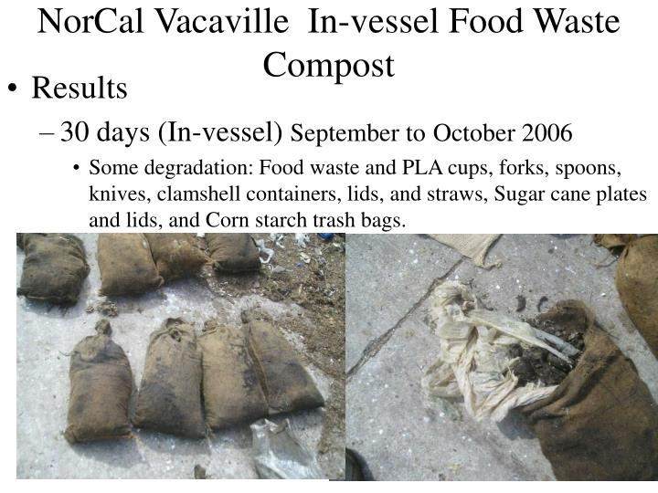 NorCal Vacaville  In-vessel Food Waste Compost