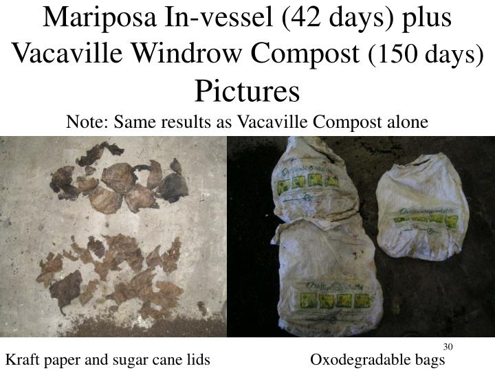 Mariposa In-vessel (42 days) plus Vacaville Windrow Compost
