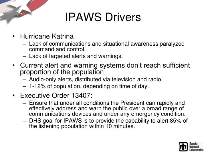 IPAWS Drivers