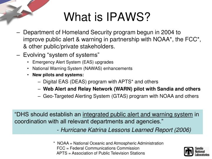 What is IPAWS?