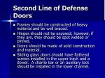 second line of defense doors