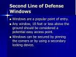 second line of defense windows