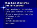 third line of defense interior controls1