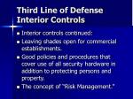 third line of defense interior controls3