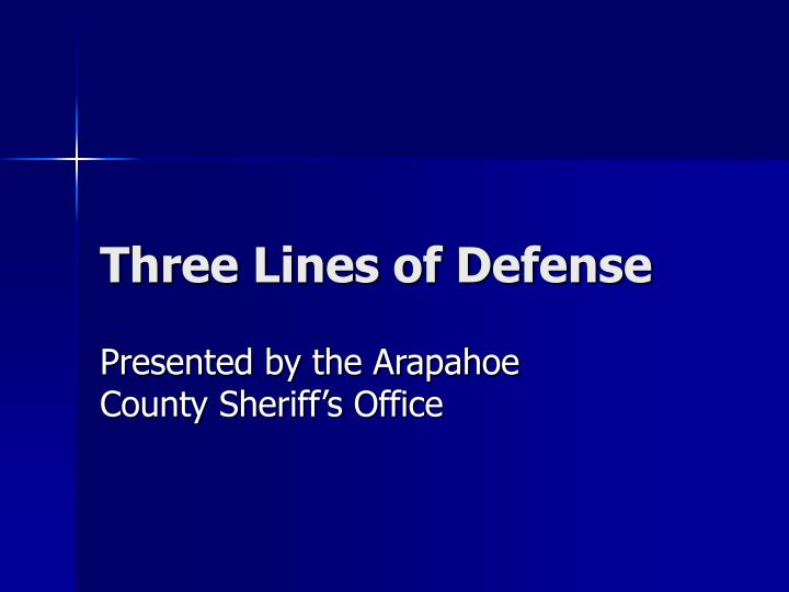 three lines of defense