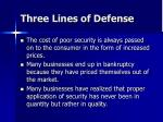 three lines of defense1