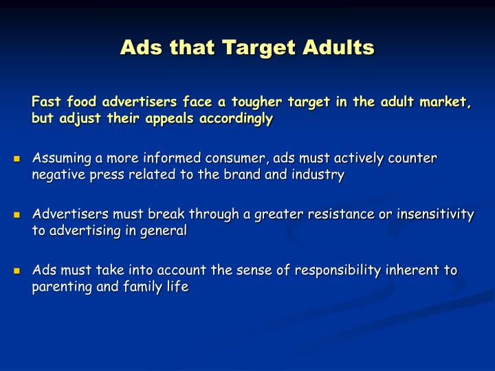 Ads that Target Adults