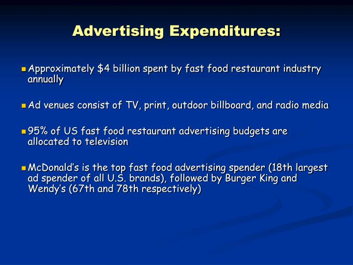 Advertising Expenditures:
