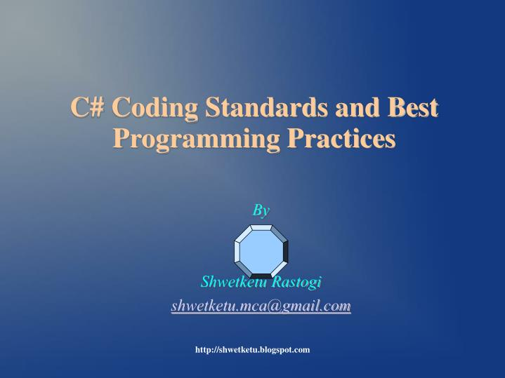 C coding standards and best programming practices