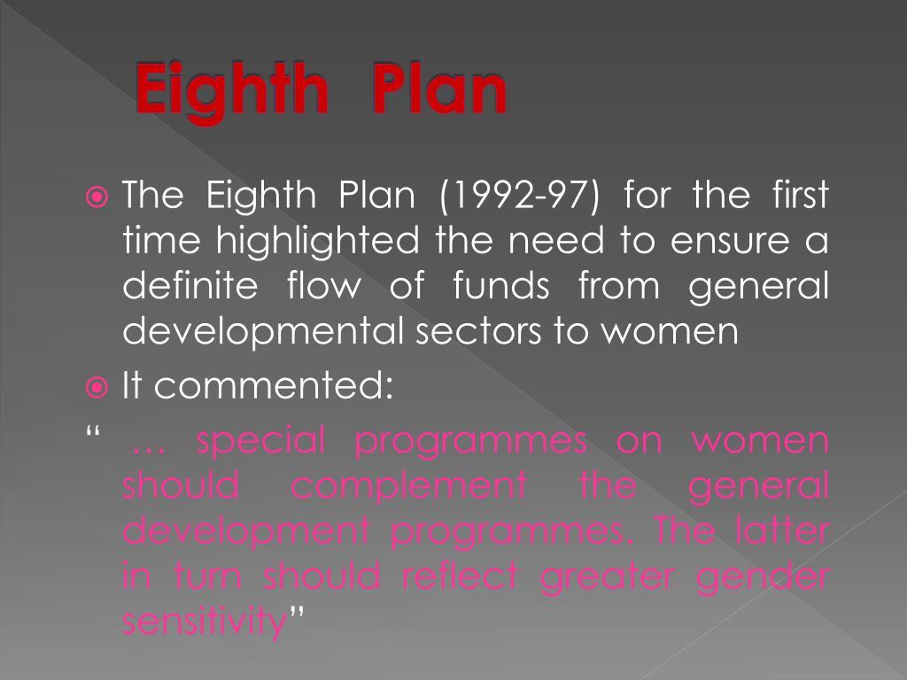 Eighth  Plan