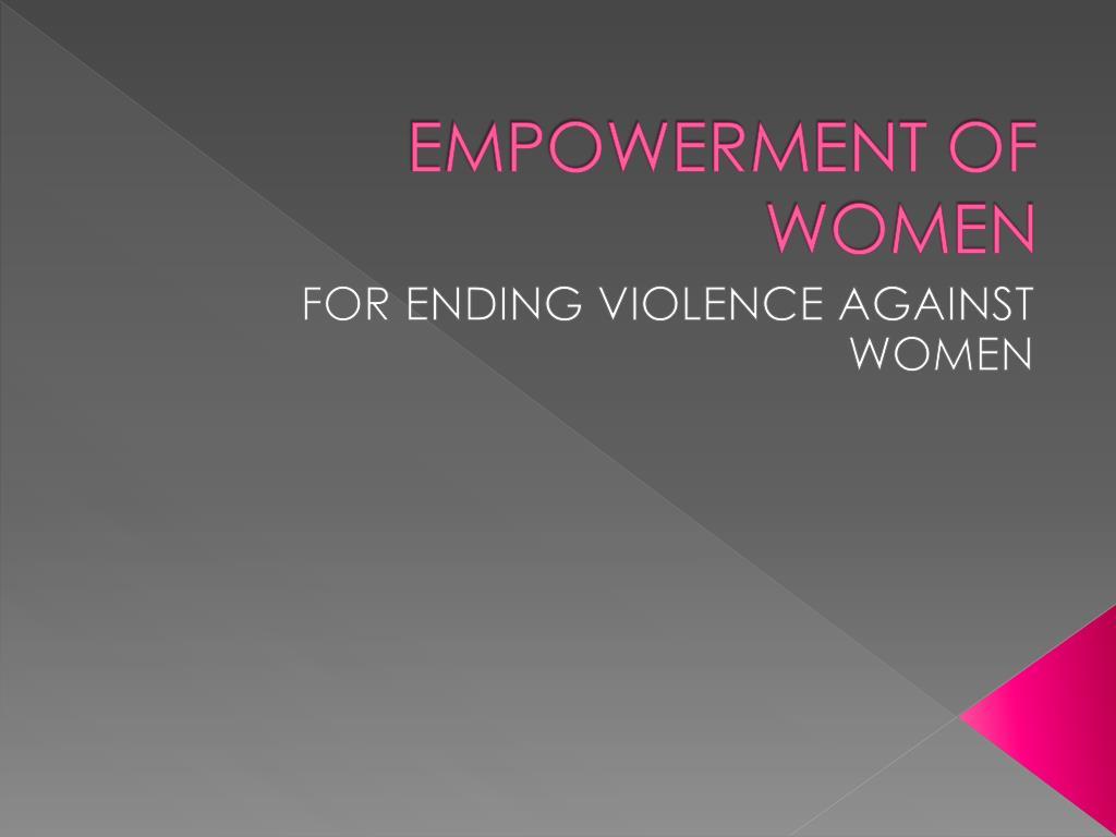 empowerment of women l.