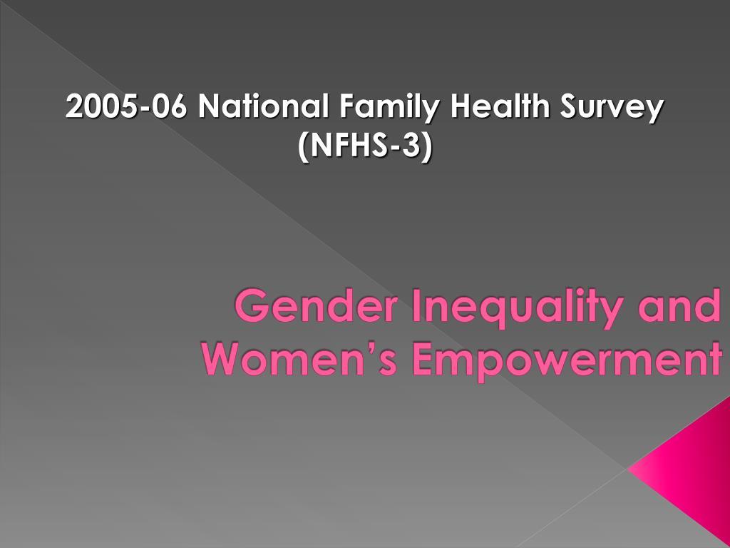 Gender Inequality and Women's Empowerment