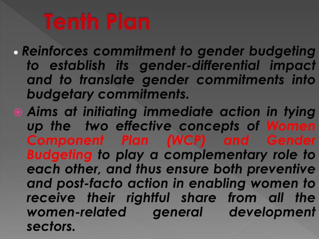 Tenth Plan