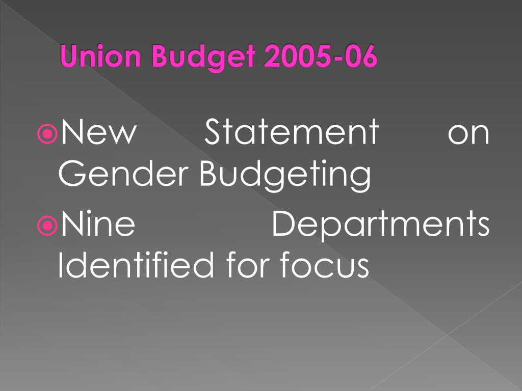 Union Budget 2005-06