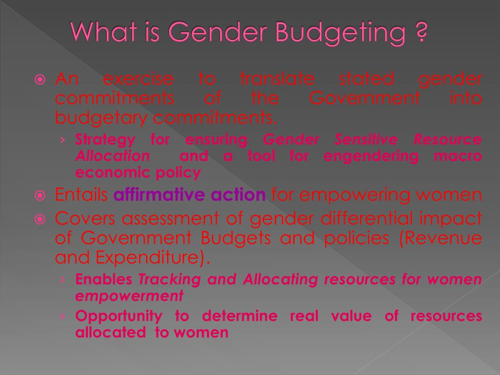 What is Gender Budgeting ?