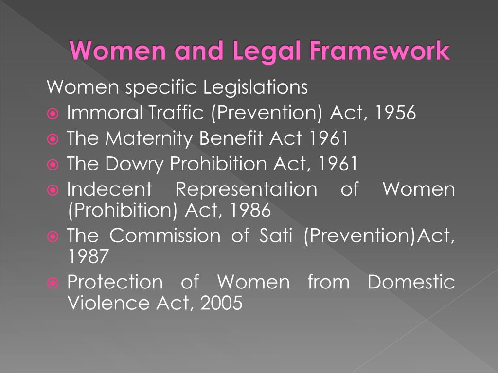 Women and Legal Framework