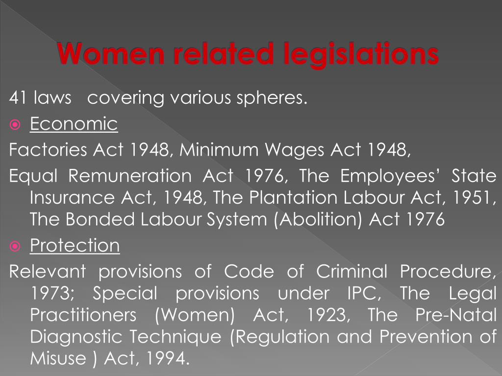 Women related legislations