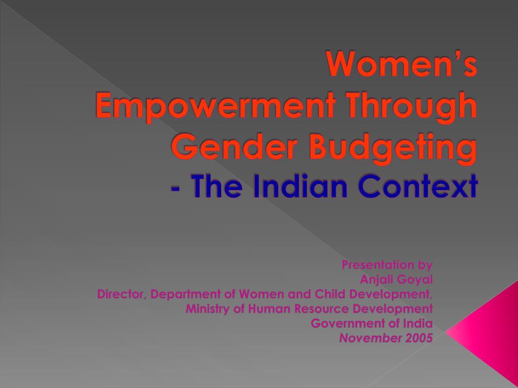 Women's Empowerment Through Gender Budgeting