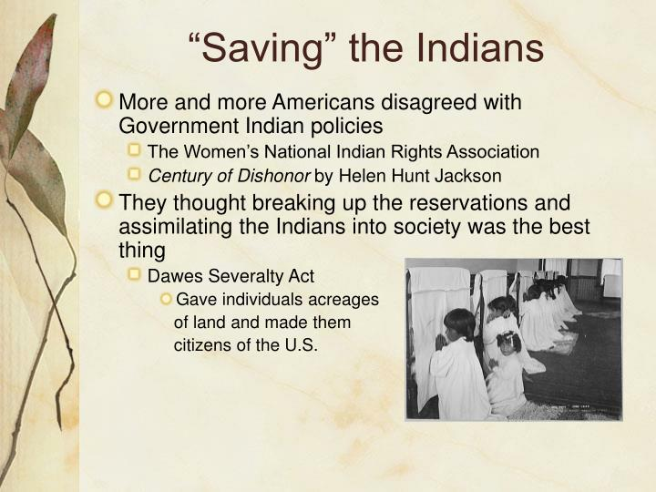 """Saving"" the Indians"