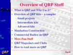 overview of qrp stuff6