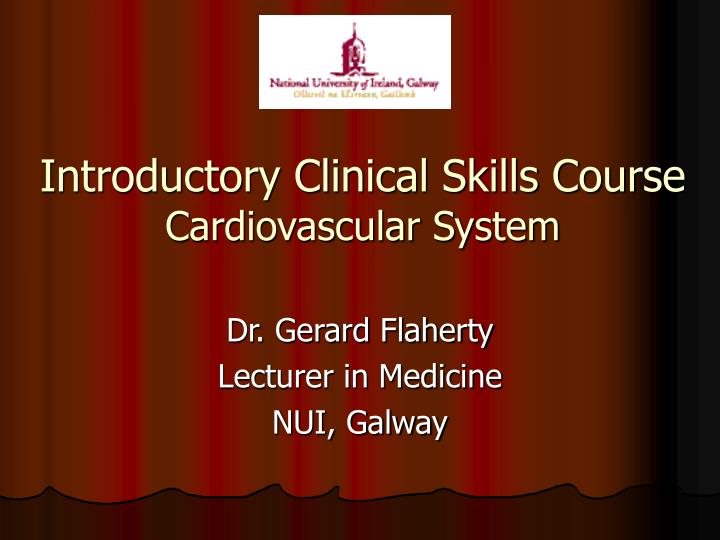 introductory clinical skills course cardiovascular system n.