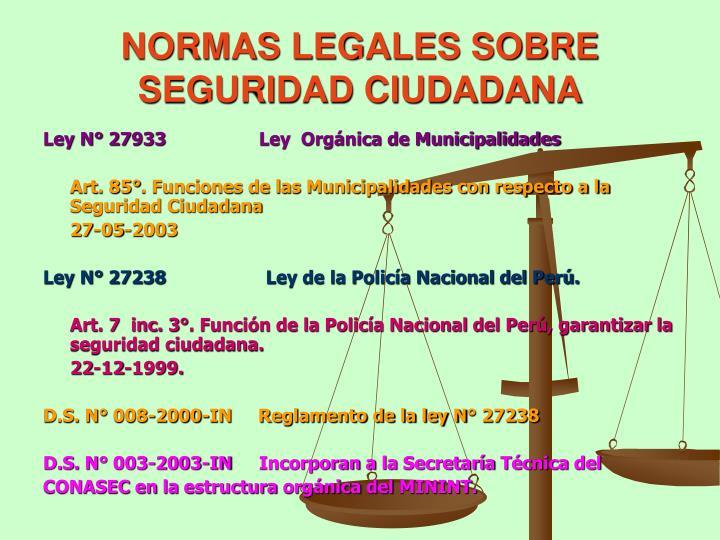 PPT - LA SEGURIDAD CIUDADANA EN EL PERU PowerPoint