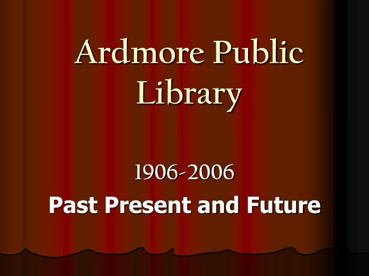 ardmore public library n.