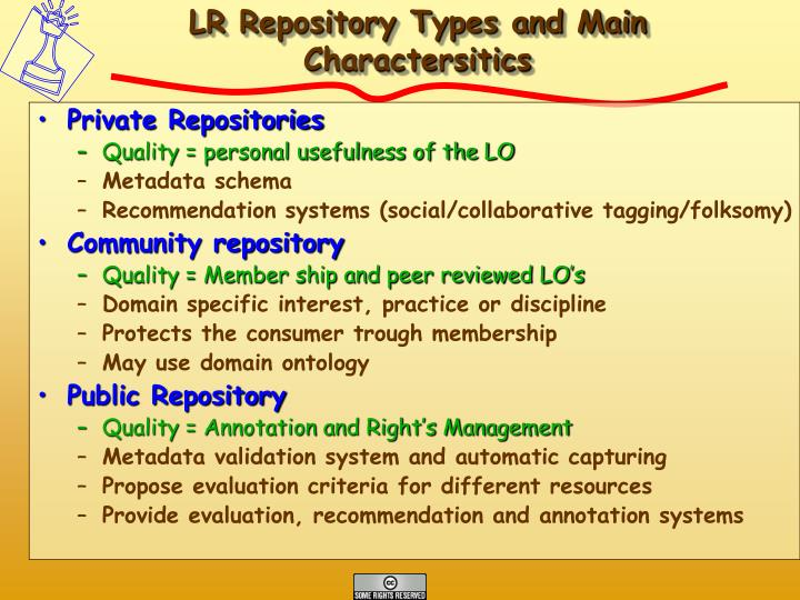 LR Repository Types and Main Charactersitics