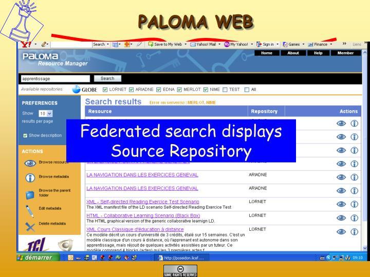 PALOMA WEB