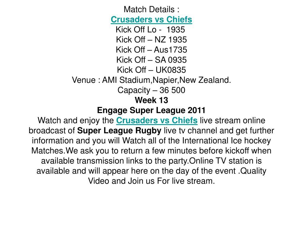 Match Details :
