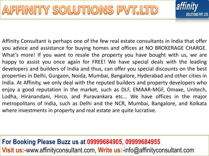 AFFINITY SOLUTIONS PVT.LTD