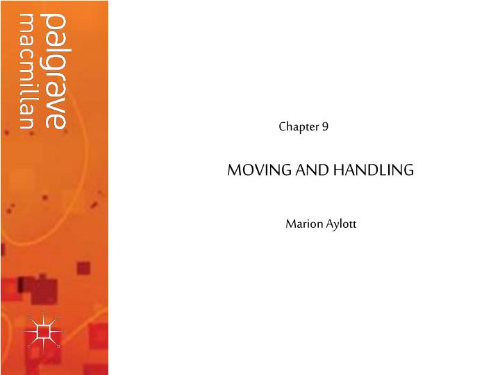 moving and handling n.