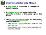 describing data data models