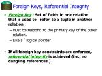 foreign keys referential integrity
