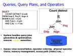 queries query plans and operators